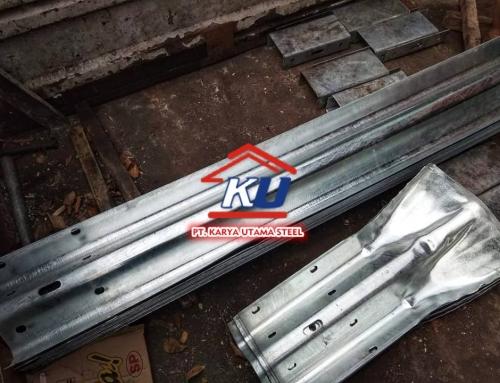 Harga Guardrail Type A 4,5 mm Galvanis Hotdeep Untuk Jalan Raya